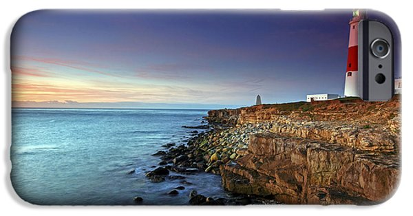 Lighthouse iPhone Cases - Portland Bill Sunset iPhone Case by Ollie Taylor