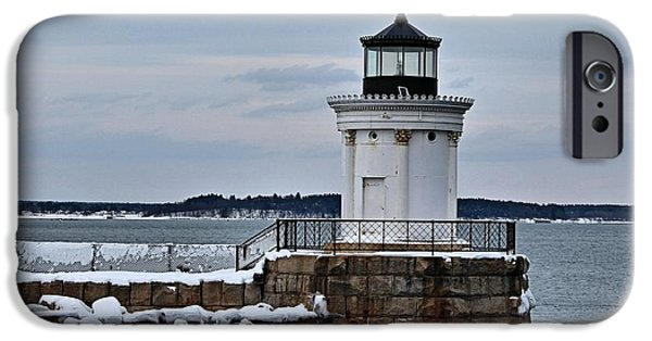 Winter In Maine iPhone Cases - Portland Breakwater_0022 iPhone Case by Joseph Marquis