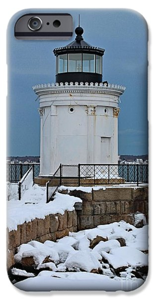 Winter In Maine iPhone Cases - Portland Breakwater_0040 iPhone Case by Joseph Marquis