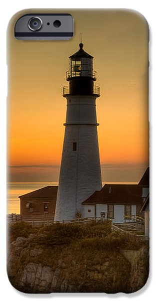 Portland Head Light at Sunrise II iPhone Case by Clarence Holmes