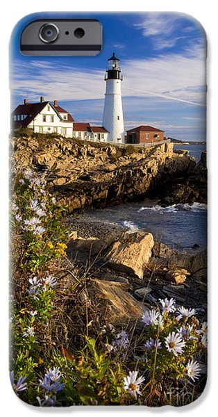 Recently Sold -  - New England Lighthouse iPhone Cases - Portland Head Light iPhone Case by Brian Jannsen