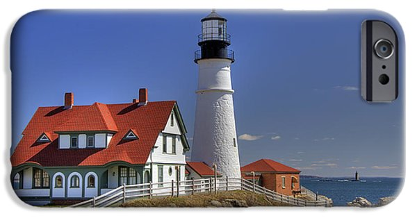 Best Sellers -  - Ledge iPhone Cases - Portland Head Light iPhone Case by Joann Vitali