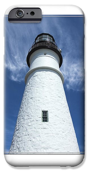 Maine Lighthouses iPhone Cases - Portland Head Light iPhone Case by Mike McGlothlen