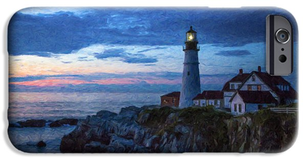 Lighthouse iPhone Cases - Portland Head Lighthouse iPhone Case by Diane Diederich