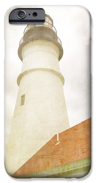 New England Lighthouse iPhone Cases - Portland Head Lighthouse Maine iPhone Case by Carol Leigh