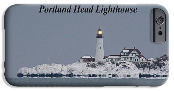 Winter In Maine iPhone Cases - Portland Head_9983a iPhone Case by Joseph Marquis