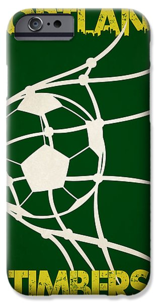 Timber iPhone Cases - Portland Timbers Goal iPhone Case by Joe Hamilton