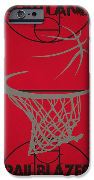 Dunk iPhone Cases - Portland Trail Blazers Court iPhone Case by Joe Hamilton