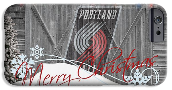 3 Pointer iPhone Cases - Portland Trailblazers iPhone Case by Joe Hamilton
