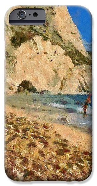 Porto Katsiki beach in Lefkada island iPhone Case by George Atsametakis