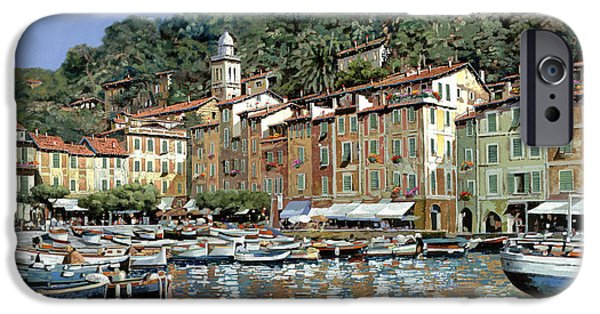 Fishermen iPhone Cases - Portofino iPhone Case by Guido Borelli