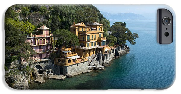 Buildings By The Ocean iPhone Cases - Portofino iPhone Case by Jaroslaw Blaminsky