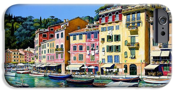Yachts iPhone Cases - Portofino Sunshine SOLD iPhone Case by Michael Swanson