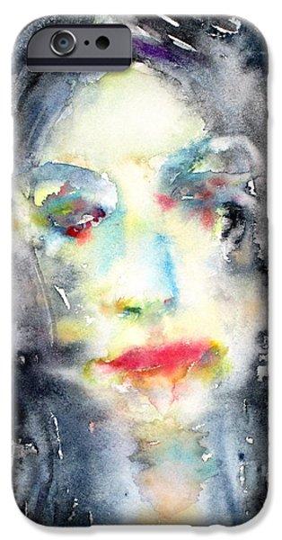 Lips iPhone Cases - Portrait 1 iPhone Case by Fabrizio Cassetta