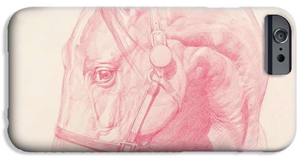Signed Drawings iPhone Cases - Portrait Head iPhone Case by Emma Kennaway