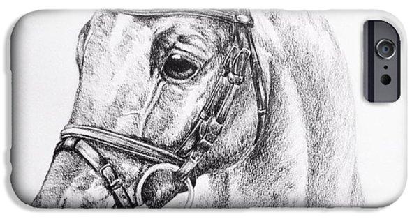 Horse Bit iPhone Cases - Portrait iPhone Case by Kassidy Bonertz