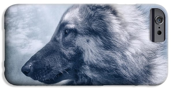Dog Iphone Case iPhone Cases - Portrait of a Belgian Tervuren iPhone Case by Wolf Shadow  Photography