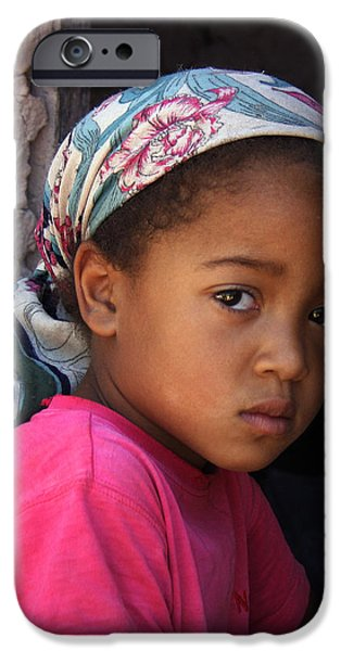 PORTRAIT OF A BERBER GIRL iPhone Case by Ralph A  Ledergerber-Photography