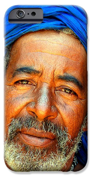 PORTRAIT OF A BERBER MAN  iPhone Case by Ralph A  Ledergerber-Photography