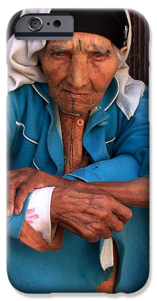 PORTRAIT OF A BERBER WOMAN iPhone Case by Ralph A  Ledergerber-Photography