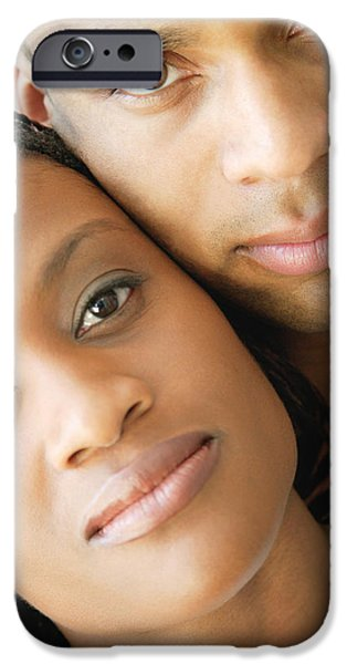 Relationship iPhone Cases - Portrait Of A Couple iPhone Case by Darren Greenwood