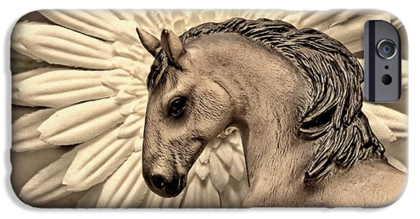 Filly iPhone Cases - Portrait Of A Horse iPhone Case by Jeff  Gettis