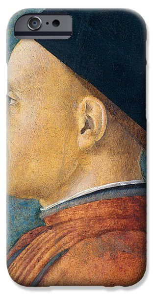 Portrait of a Man iPhone Case by Andrea Mantegna