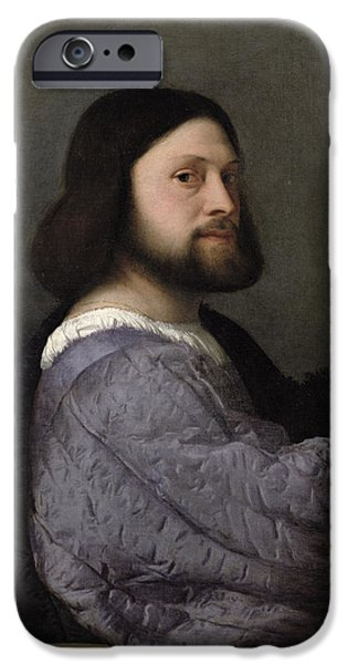 Self Portrait Photographs iPhone Cases - Portrait Of A Man, C.1512 Oil On Canvas iPhone Case by Titian