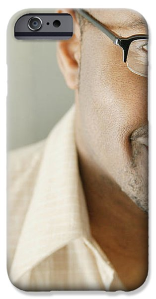 Portrait Of A Man iPhone Case by Darren Greenwood