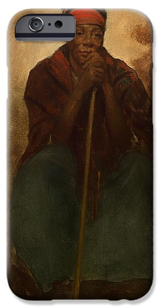 Negro Paintings iPhone Cases - Portrait of a Negress iPhone Case by Eastman Johnson