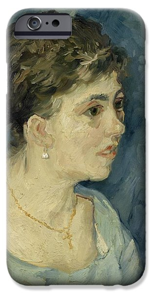 Prostitutes Paintings iPhone Cases - Portrait of a prostitute iPhone Case by Vincent van Gogh
