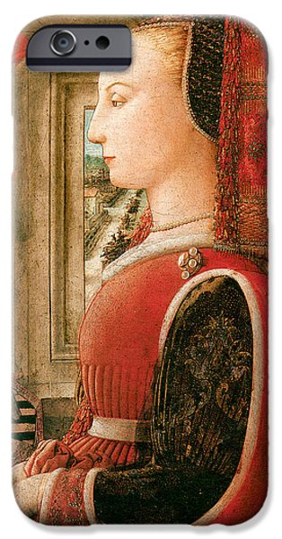 Important Paintings iPhone Cases - Portrait of a Woman iPhone Case by Fra Filippo Lippi