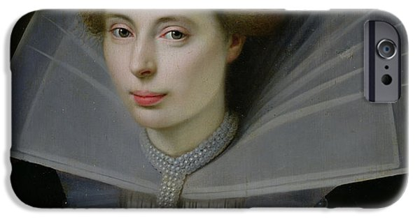 Holland Paintings iPhone Cases - Portrait of a Woman  iPhone Case by Dutch School