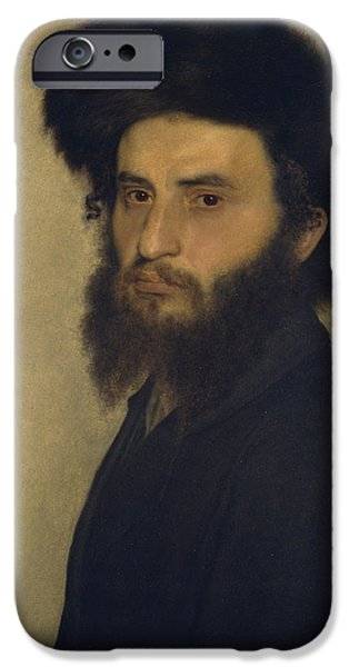 Portrait of a Young Jewish Man  iPhone Case by Isidor Kaufmann