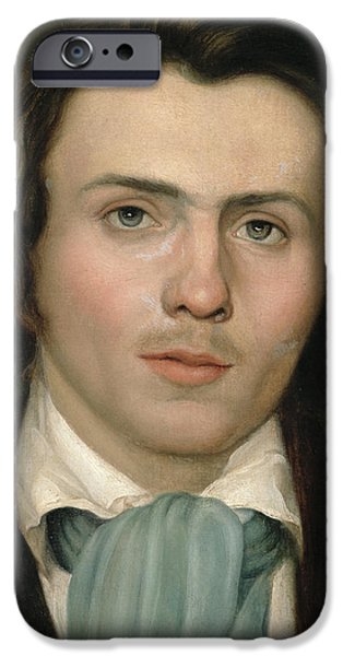 Well Dressed iPhone Cases - Portrait of a young man iPhone Case by Rudolph Friedrich Wasmann