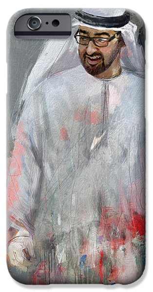 Deputy iPhone Cases - Portrait of Abdullah bin Zayed Al Nahyen 6 iPhone Case by Maryam Mughal