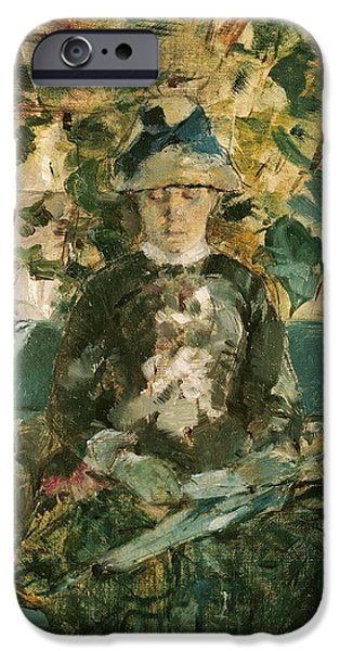 Countess iPhone Cases - Portrait of Adele Tapie de Celeyran iPhone Case by Henri de Toulouse-Lautrec