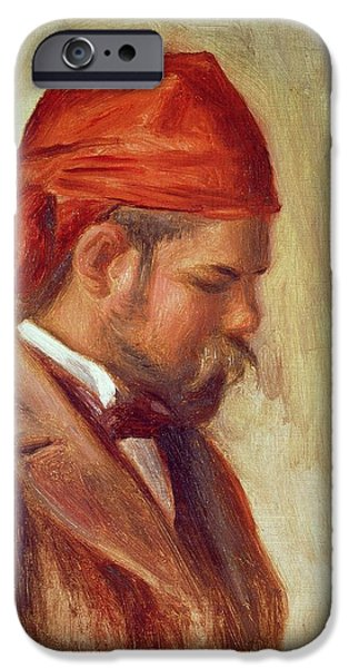 Impressionist Photographs iPhone Cases - Portrait Of Ambroise Vollard 1868-1939 Oil On Panel iPhone Case by Pierre Auguste Renoir