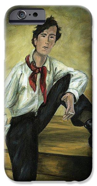 Portrait of Amedeo Modigliani iPhone Case by Cecilia  Brendel