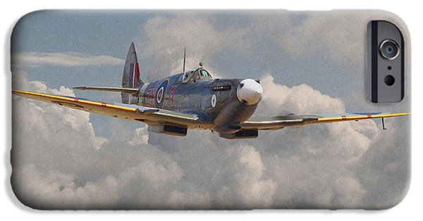 Classic Aircraft iPhone Cases - Portrait of an Icon iPhone Case by Pat Speirs