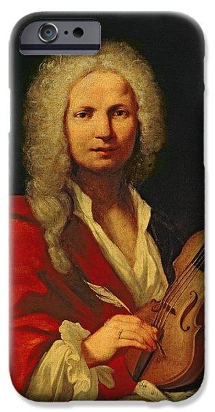 Quill iPhone Cases - Portrait of Antonio Vivaldi iPhone Case by Italian School