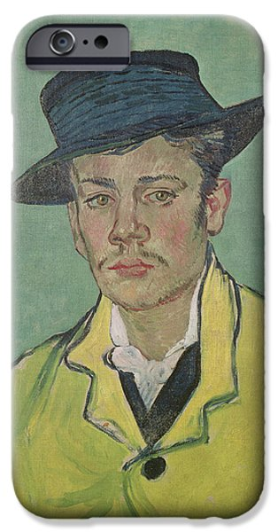 Hats iPhone Cases - Portrait of Armand Roulin iPhone Case by Vincent Van Gogh