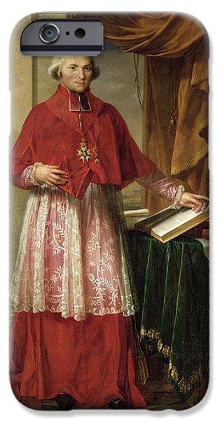 Lyon iPhone Cases - Portrait Of Cardinal Joseph Fesch 1763-1839 1806 Oil On Canvas iPhone Case by Charles Meynier