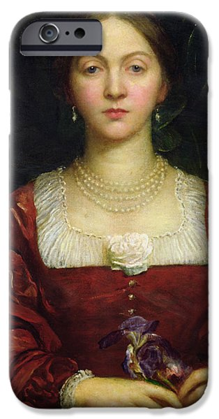Countess iPhone Cases - Portrait of Countess of Airlie iPhone Case by George Frederick Watts