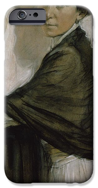 Countess iPhone Cases - Portrait of Countess Olsuphyev iPhone Case by Valentin Serov