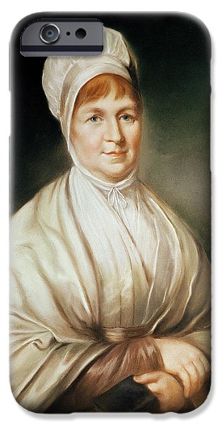 Homeless iPhone Cases - Portrait Of Elizabeth Fry 1780-1845 iPhone Case by English School