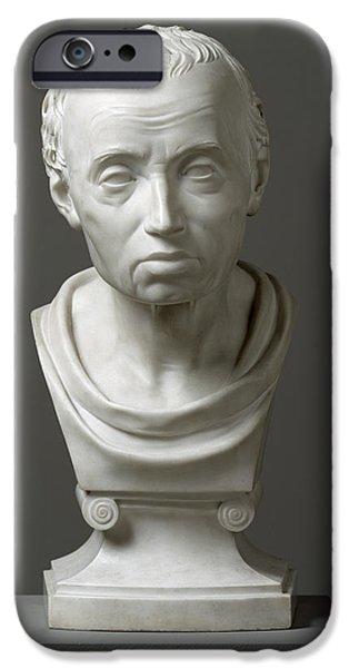 Sculptures iPhone Cases - Portrait of Emmanuel Kant  iPhone Case by Friedrich Hagemann