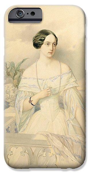 Recently Sold -  - Duchess iPhone Cases - Portrait of Grand Duchess Olga Nikolaevna iPhone Case by Vladimir Ivanovich Hau