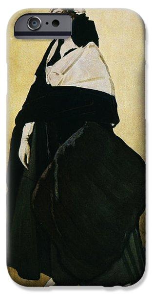 Shawl iPhone Cases - Portrait of Ida Lvovna Rubinstein iPhone Case by Leon Bakst