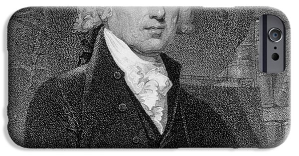 White House iPhone Cases - Portrait of James Madison iPhone Case by Gilbert Stuart